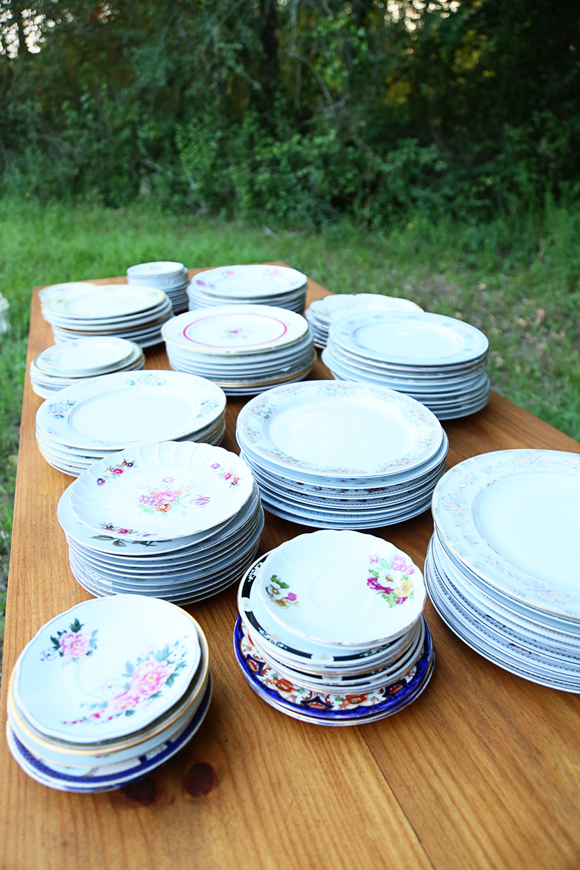 Southern Elegance Vintage Rentals - China Plates - Bryan : vintage china dinnerware - pezcame.com