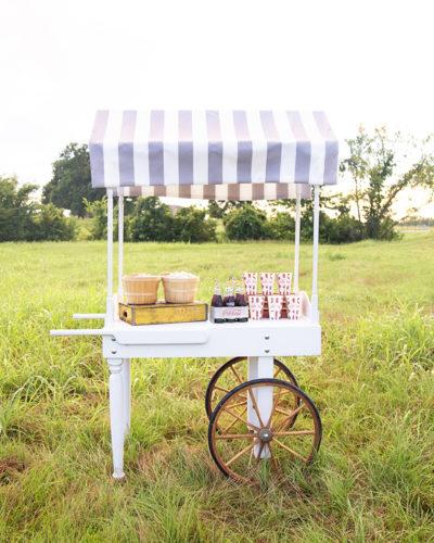 Market Cart for Weddings - Southern Elegance Rentals - Bryan Party Rentals